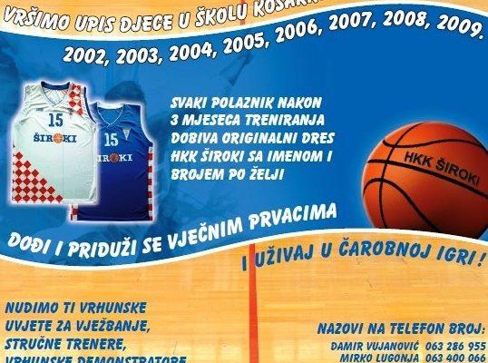 Upis u Školu košarke