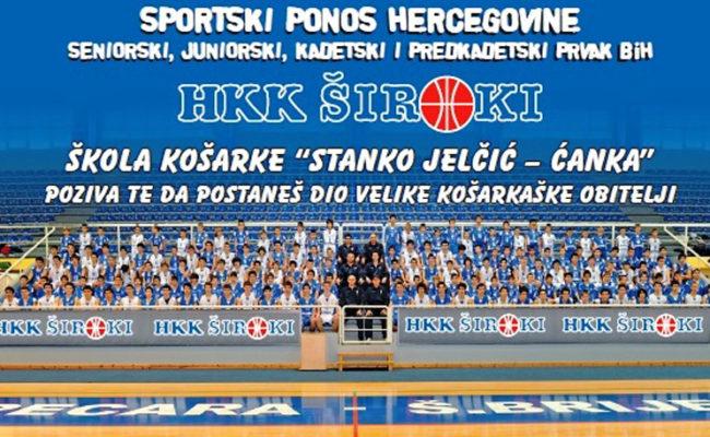 """HKK Široki vrši upis u Školu košarke """"Stanko Jelčić – Ćanka"""""""